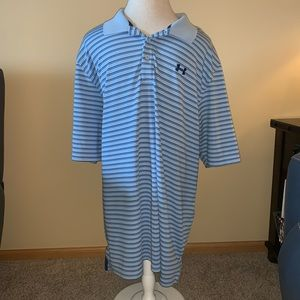 Other - Blue striped under Armour polo xxl